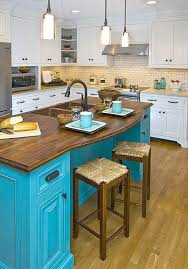 blue kitchen island colorful kitchen island ideas eatwell101