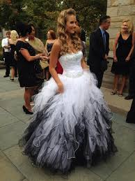 black and white wedding dresses if this was white purple this would be my wedding dress