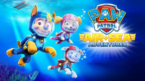 paw patrol air and sea adventures underwater team chase ryder