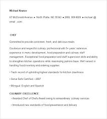 free sous chef resume samples template examples format u2013 inssite