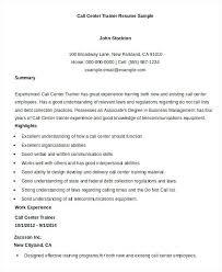Call Center Agent Resume Sample Sample Resume For Call Center Agent With Experience Call Center