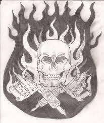 skull and guns by ettin1 on deviantart
