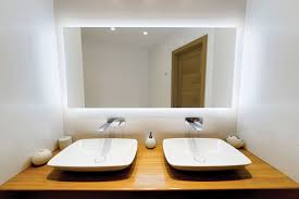bathroom lighted mirror with led lights clearlight designs