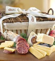 meat and cheese gift baskets crafted meat cheese gift basket