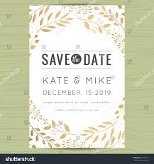 Invitation Card For A Wedding Save Date Wedding Invitation Card Template Stock Vector 425776411