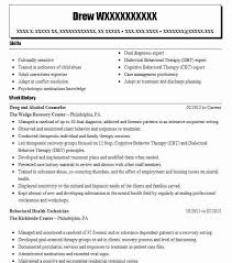 Residential Counselor Resume Sample by Best Drug And Alcohol Counselor Resume Example Livecareer