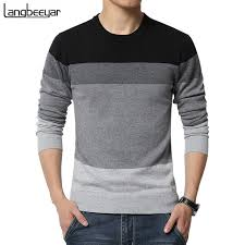 best sweater brands 2018 autumn fashion brand casual sweater o neck striped slim