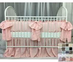 Duck Crib Bedding Set Baby Crib Bedding Set With Large Bow And Sash Ties White Grey