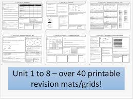 aqa chemistry 9 1 revision mats grids for unit 4 chemical changes