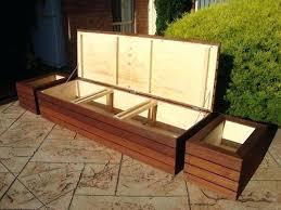 diy outdoor bench with storage diy garden bench seat with storage