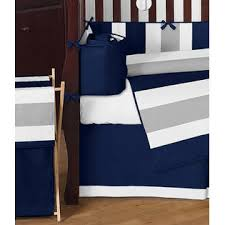 Navy Blue And Gray Bedding Sweet Jojo Designs Navy Blue And Gray Stripe Baby Bedding 9pc Crib