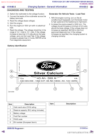 battery ford kuga 2011 1 g workshop manual