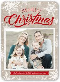 merry 5x7 snowflake cards shutterfly