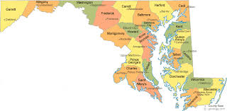 maryland map maryland county map