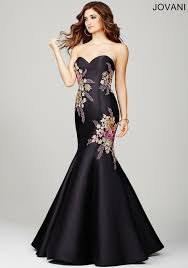 radiant strapless mermaid dress features multicolored floral