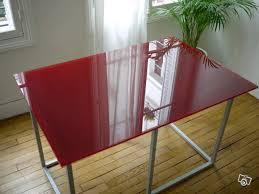 table de bureau en verre table de bureau en verre habitat occasion