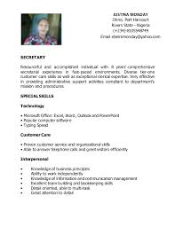 secretary resume executive secretary sample resume executive