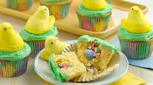 easter desserts peeps chick surprise inside cupcakes recipe tablespoon com