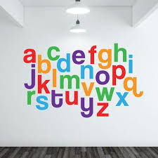 Alphabet Wall Decals For Nursery Alphabet Wall Decals Nursery Wall Decals Alphabet Decals