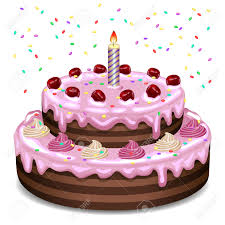 birthday cake on a white background royalty free cliparts