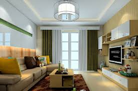american modern living room suspended ceiling and curtains design