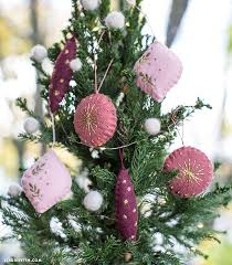 embroidered felt ornaments lia griffith
