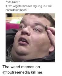 Weed Memes - hits blunt lf two vegetarians are arguing is it still considered