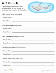 verb tense 1 worksheet education com