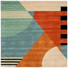Modern Square Rugs by Rug Neat Modern Rugs Wool Area Rugs And Turquoise And Orange Rug