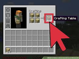How To Make A Table In Minecraft How To Make A Bow And Arrow In Minecraft 8 Steps With Pictures