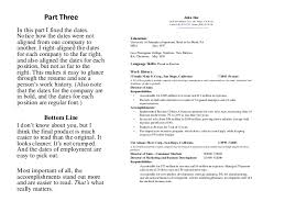 Resume Dates How To Format A Resume