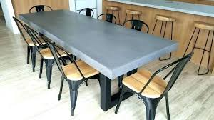 concrete and wood dining table concrete resin table concrete resin dining table