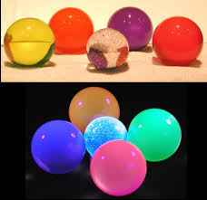 glow balls neon husky section contact juggling uv glow balls