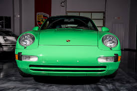 green porsche 1997 porsche 911 993 carrera cabriolet u2013 1 of 1 in signal green