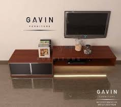 Cermin Brown design credenza tv minimalis dengan kombinasi cermin hitam q2889