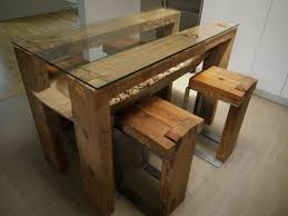 table cuisine verre reclaimed wood dining table glass top salvaged wood kitchen