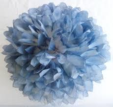 Pom Pom Decorations Blue Denim U0026 White Pom Wedding Decorations Birthday