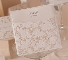wedding invitations lace pearl wedding invitations white lace hollow wedding card design