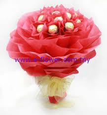 e flowers ferrero rocher flower bouquet