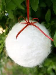 diy snowball ornaments christmasornaments