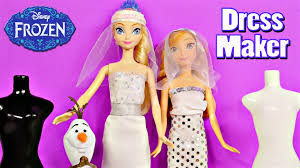 Wedding Dress Makers Frozen Barbie Bridal Fashion Wedding Dress Maker Disney U0027s Frozen