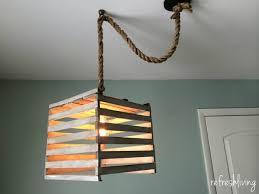 Antique Style Light Fixtures Farmhouse Light Fixture From An Egg Crate Refresh Living