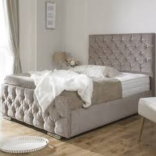 Quilted Bed Frame Kitchen Astonishing Quilted Bed Frame Quilted Bed Frame Grey