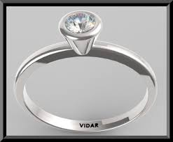bezel set engagement rings custom bezel setting diamond solitaire engagement ring vidar