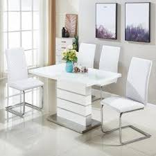 White Gloss Dining Tables And Chairs High Gloss Dining Table And Chairs Furniture In Fashion