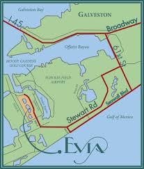 galveston island map location evia on galveston island