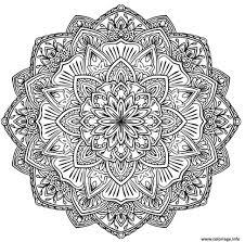 coloriage mandala dessin à imprimer gratuit