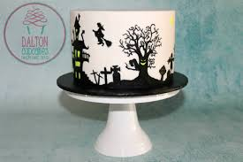 Spooky Halloween Cake Spooky Silhouette Cake How To Youtube