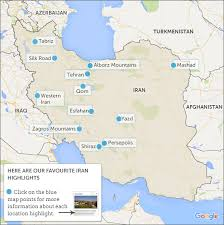 map iran iran map highlights responsible travel guide to where to go in iran