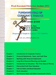 download chapter 22 fundamentals of corporate finance 9th